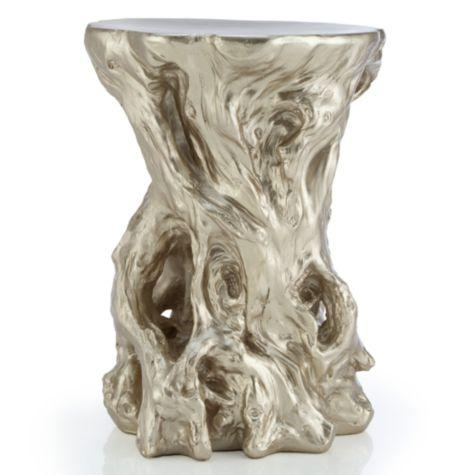 Lovely Root Silver Accent Table