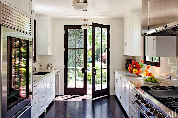 Galley Style Kitchen Contemporary Kitchen Architectural Digest