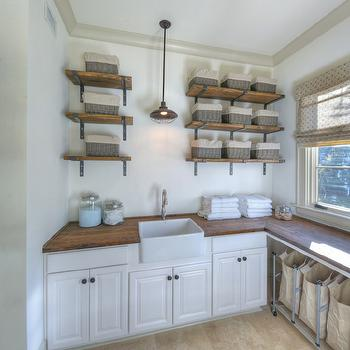 Over Counter Farmhouse Sink : ... over small farmhouse sink and white cabinets accented with reclaimed