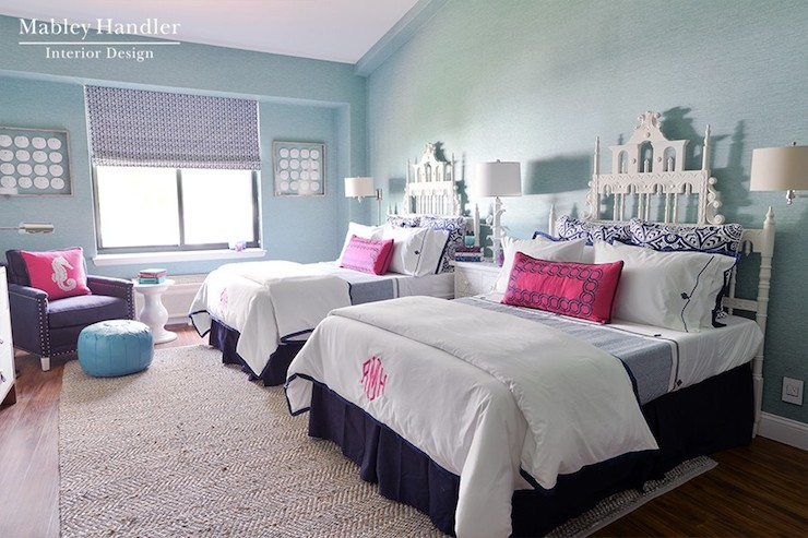 Teen Rooms With Twin Beds Blue