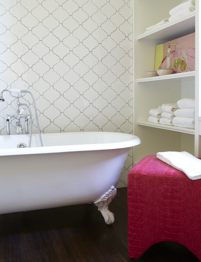 Arabesque Tiles Contemporary Bathroom Jan Ware Designs