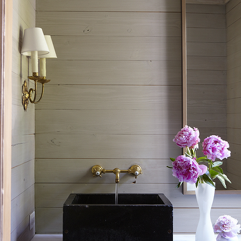 Black Vessel Sink, Transitional, bathroom, Jan Ware Designs