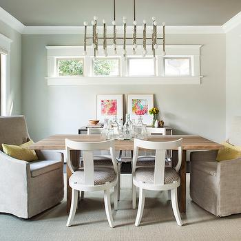 Jonathan Adler Meurice Rectangular Chandelier, Contemporary, dining room, Terracotta Properties