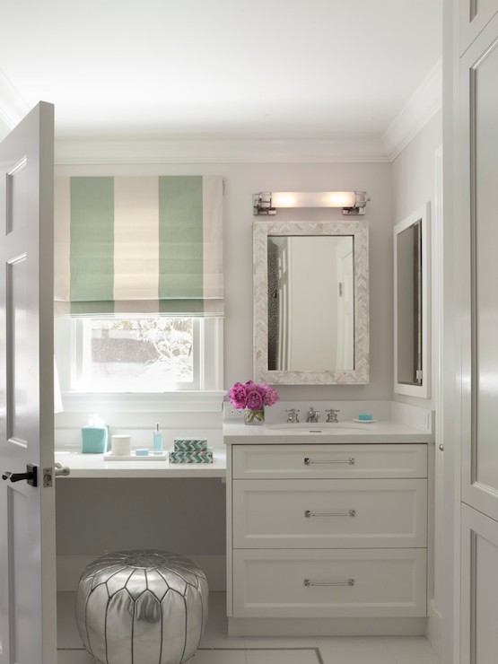 Floating makeup vanity contemporary bathroom ann for Bathroom designs with dressing area