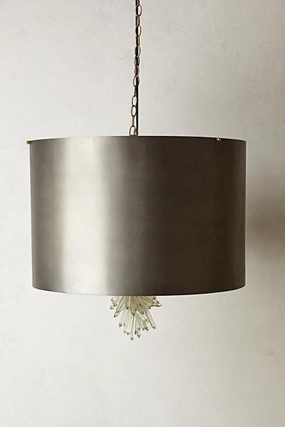 Erto Grey Glass Chandelier