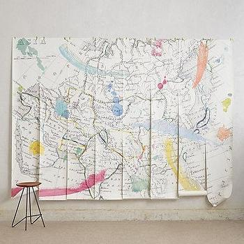 World map wall mural for Anthropologie wallpaper mural