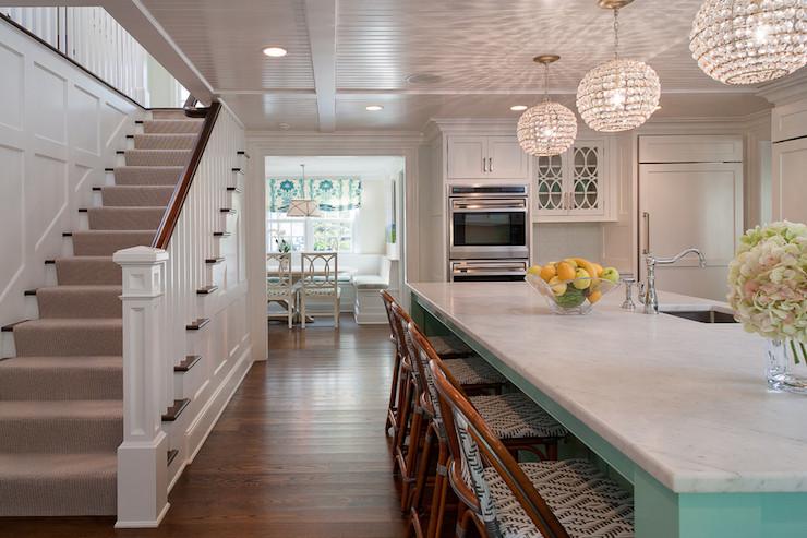 Turquoise Kitchen Island Contemporary Kitchen Wright