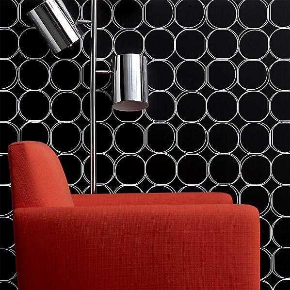 black and white orbit large wallpaper