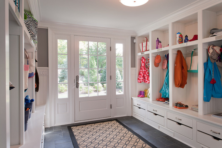 large mudroom transitional laundry room wright
