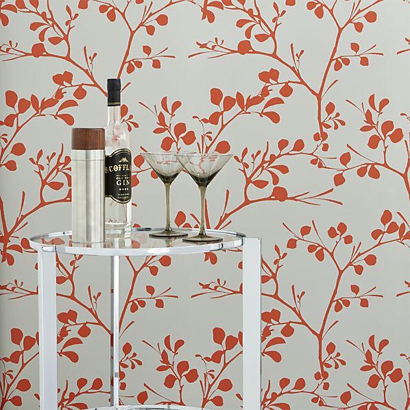 Orange And Grey Lilt Self Adhesive Wallpaper