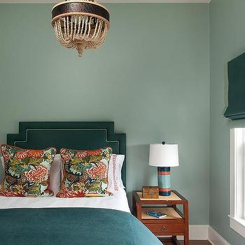 Green Bedrooms, Contemporary, bedroom, Annsley Interiors