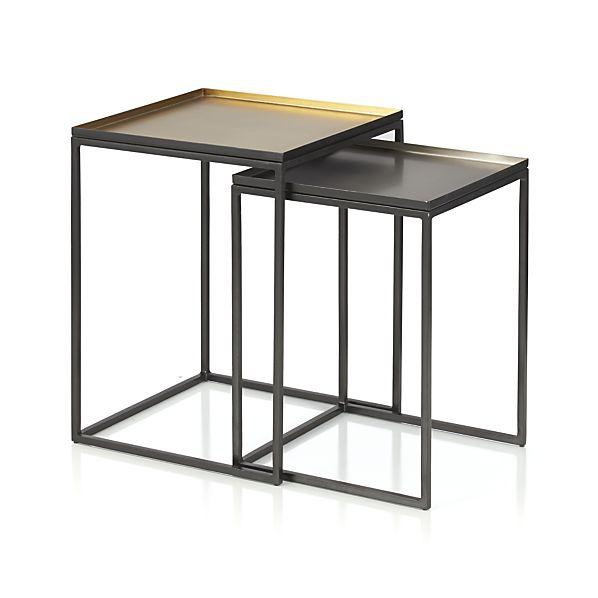 Ami Black Nesting Tables Set Of 2