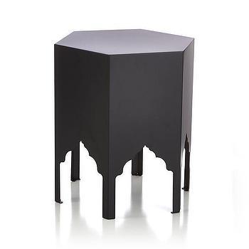 Jemma Pepper Black Side Table