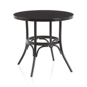Vienna Black Bistro Table, Crate and Barrel