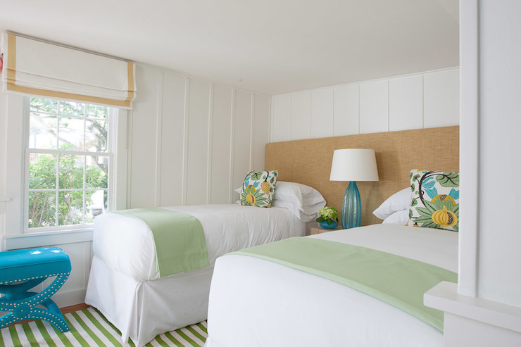 Shared Headboard Cottage Bedroom Rachel Reider Interiors