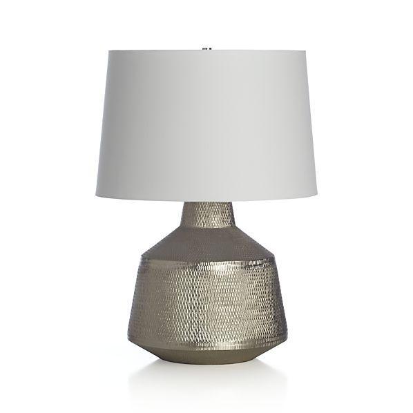 Hammered Silver Metal Lamp
