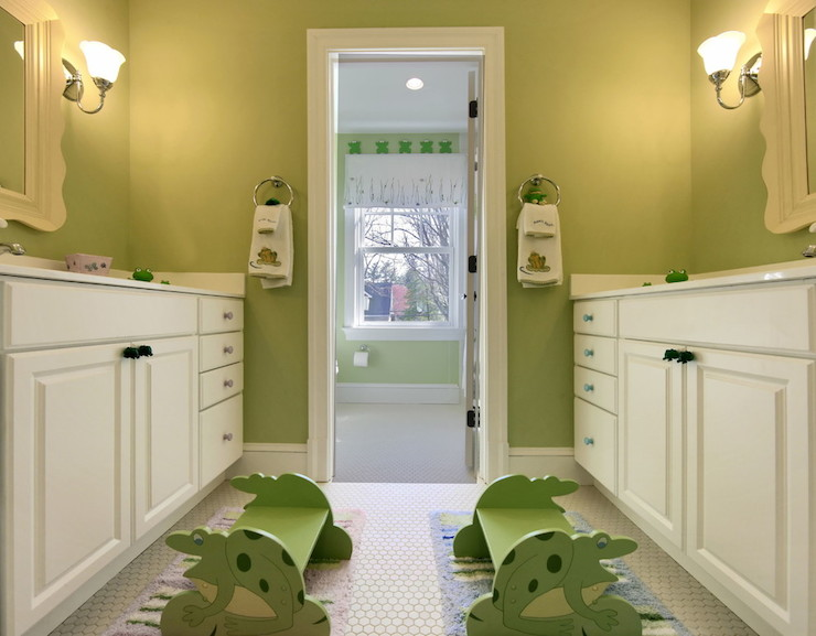 Jack and jill bathroom transitional bathroom block - Jack and jill style bathroom ...