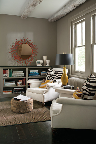 Taupe paint colors contemporary den library office for Taupe paint colors living room