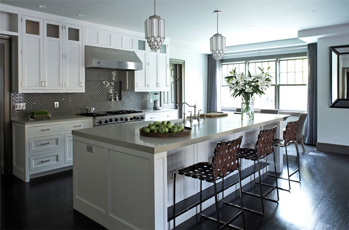 Gray Kitchen Backsplash   Contemporary   kitchen   Mar Silver Design