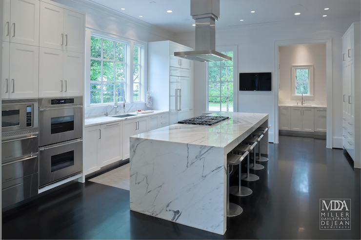 Vent Hood Over Kitchen Island Part - 29: Waterfall Island