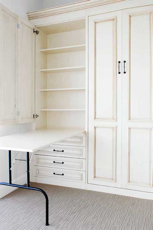 Fold Down Table Transitional Closet
