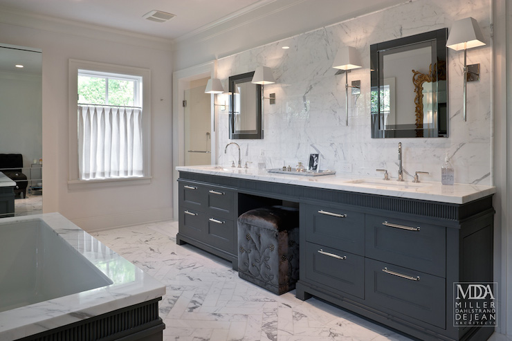 Charcoal gray vanity contemporary bathroom mdd architects - Master bath vanity design ideas ...