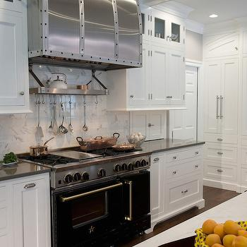 Bluestar Range, Transitional, kitchen, Benjamin Moore White Dove, Kitchens by Eileen