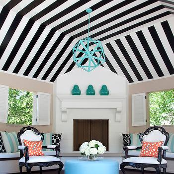 Striped Ceiling, Contemporary, deck/patio, At Home in Arkansas