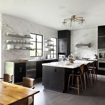 Black Kitchen Cabinets, Contemporary, kitchen, Mar Silver Design