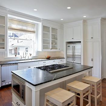 Island Microwave, Transitional, kitchen, Block Builders Group