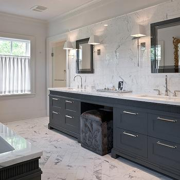 Gray Bathroom Contemporary Bathroom Blue Water Home Builders