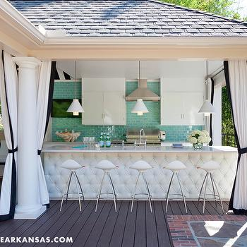 Pool Deck Cabana, Contemporary, deck/patio, At Home in Arkansas