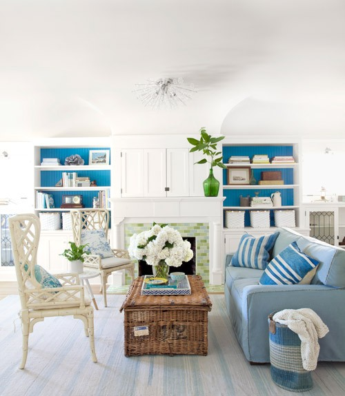 Azure Paint Colors - Country - living room - Olympic ...
