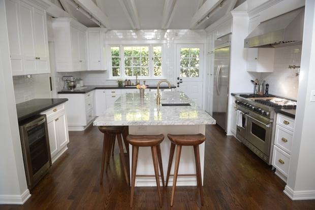 Super White Granite Countertops Transitional Kitchen