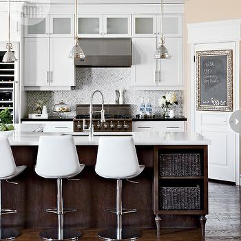 Island With Shelves Contemporary Kitchen Style At Home