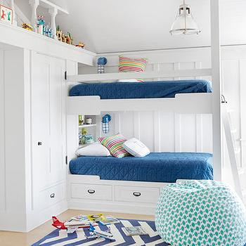 Boys Bunk Beds, Transitional, boy's room, Country Living