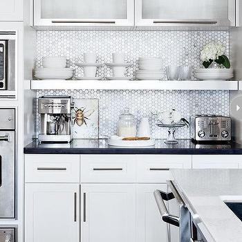 Silver Hex Backsplash - Design, decor, photos, pictures, ideas ...