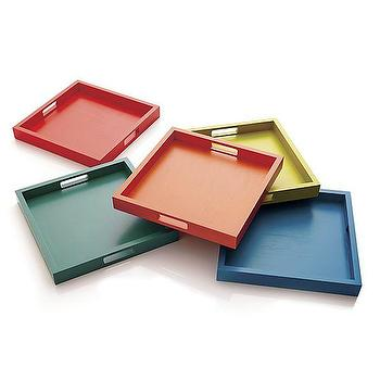 Zuma Trays, Crate and Barrel