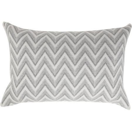 Grey Knit Throw Pillow : Rani Arabella Dillon Modern Grey Herringbone Knit Throw Pillow