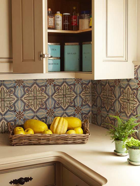 moroccan tiles backsplash mediterranean kitchen bhg