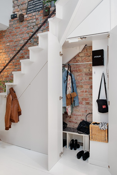 Under The Stairs Closet Eclectic entrancefoyer