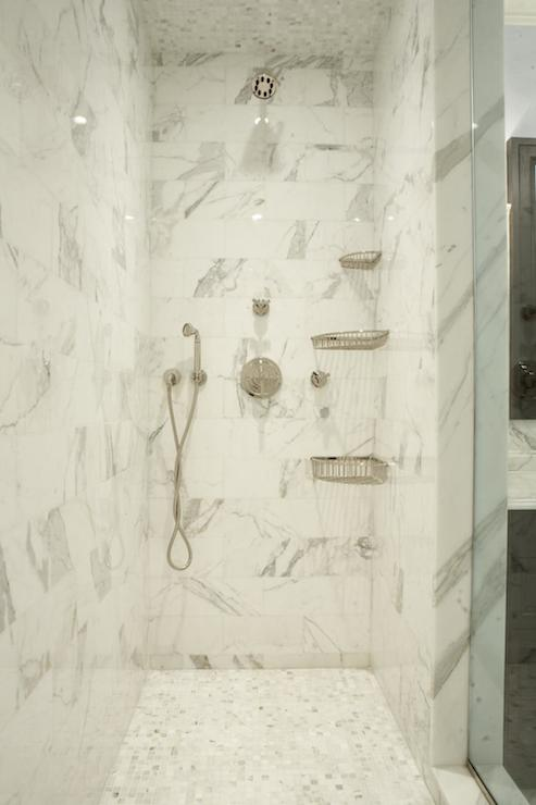 Corner Shower Caddy - Transitional - bathroom - The Renovated Home