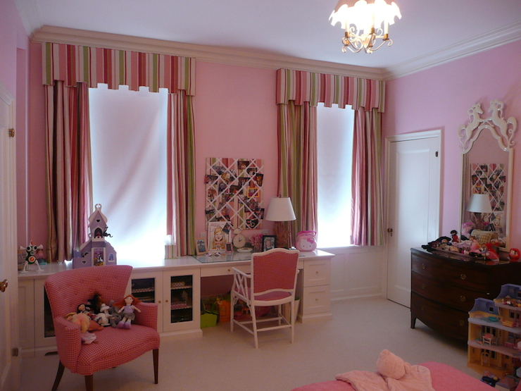 Kids window treatments traditional girl 39 s room the for Kid curtains window treatments