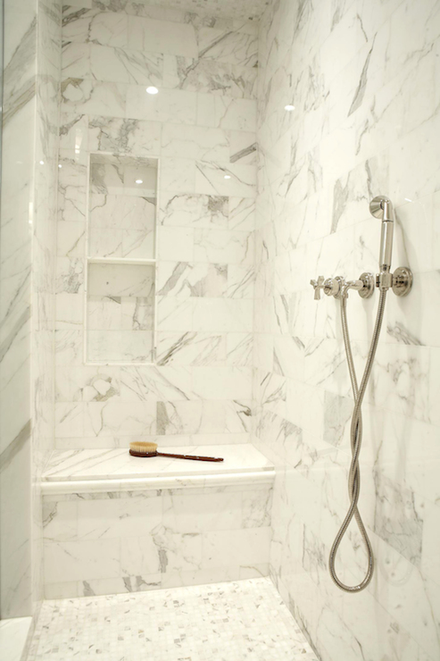 marble shower niche view full size