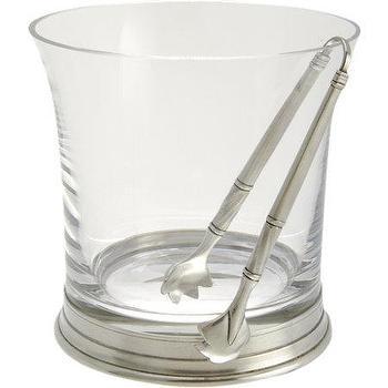 Match Ice Bucket and Tong Set I Barneys.com