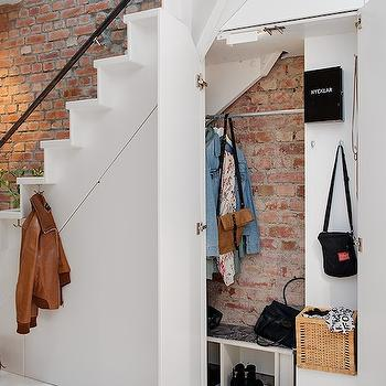 Under The Stairs Closet, Eclectic, entrance/foyer