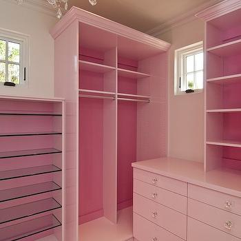 Pink Closets, Contemporary, closet, Classy Closets