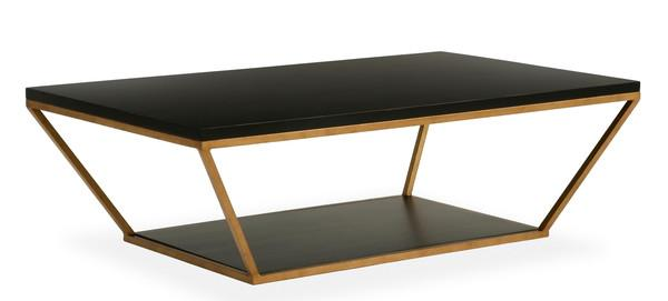 Exceptional Blair Rectangle Black And Gold Coffee Table