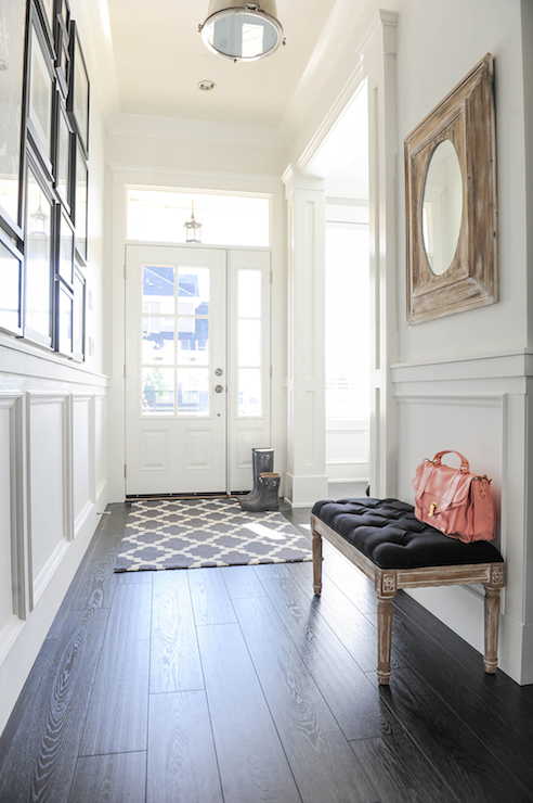 Foyer Wainscoting Transitional Entrance Foyer Tracey