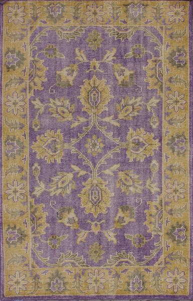 Darius Purple And Gold Wool Area Rug